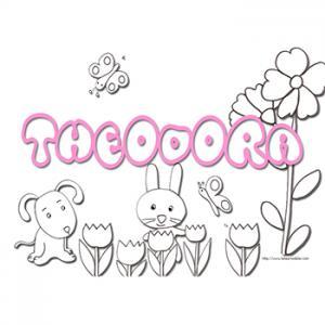 Coloriage prénom Théodora