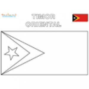 Coloriage du drapeau du Timor Oriental