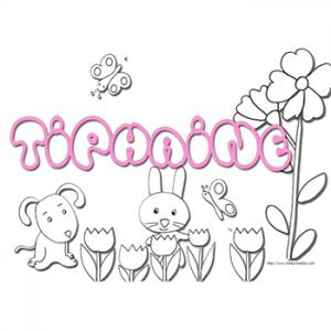 Coloriage prénom Tiffanie