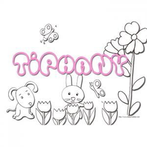 Coloriage prénom Tiphany