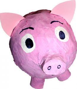 Fabriquer une tirelire cochon en papier mâché