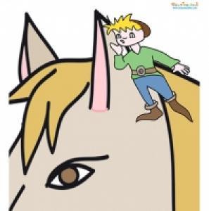 Tom Pouce et le cheval de son père