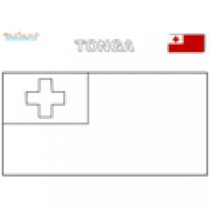 Coloriage du drapeau des Tonga