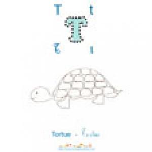 Apprendre et lire le T comme Tortue imagier N°2
