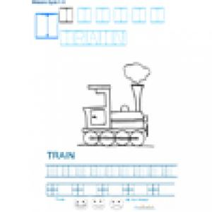 Imprimer la fiche graphisme sur T de TRAIN