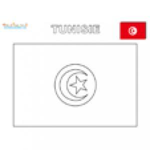 Coloriage du drapeau de la Tunisie