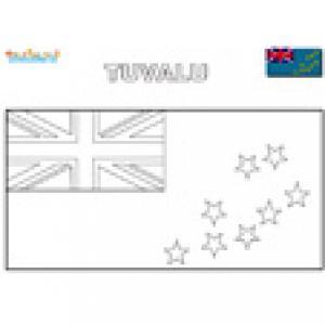 Coloriage du drapeau des Tuvalu