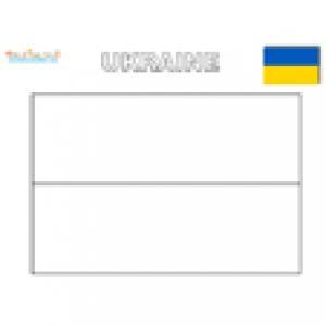 Coloriage du drapeau de l'ukraine
