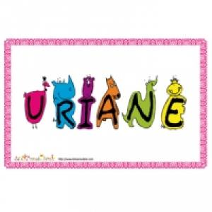 "Affiche prenom ""U"""