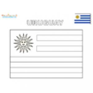 Coloriage du drapeau de l'Uruguay