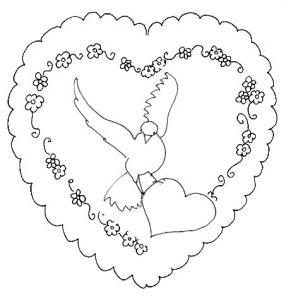 coloriage coeur saint valentin