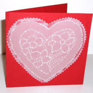 carte coeur de saint Valentin