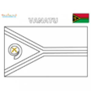 Coloriage du drapeau du vanuatu