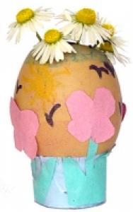 Vase oeuf envoyé par Benjamin et sa maman