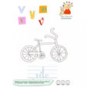V du mot vélo de l'imagier en minuscules