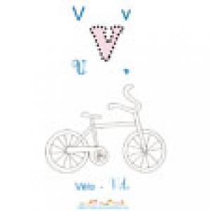 Apprendre et lire le V comme vélo imagier 2