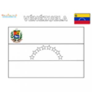Coloriage du drapeau du Venezuela