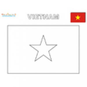 Coloriage du drapeau du Vietnam