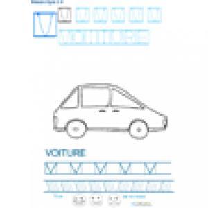Imprimer la fiche graphisme sur V de VOITURE