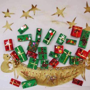 Calendrier de Noël sac cadeau
