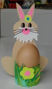 coquetier oeufs de Pâques lapin