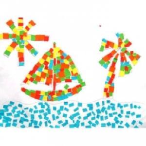 Bricolage mosaïque d'enfant