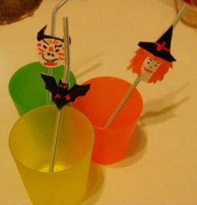 Marques pailles réalisé pour la fête d'halloween