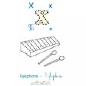 Imagier N°2: Apprendre le X et colorier le xylophone