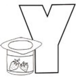 Colorie le Y de l'alphabet comme YAOURT