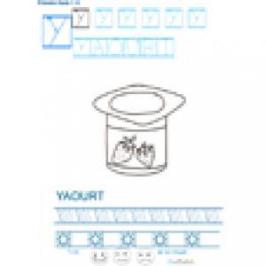 Imprimer la fiche graphisme sur Y de yaourt