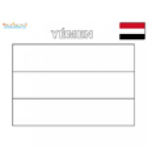 Coloriage du drapeau du Yemen