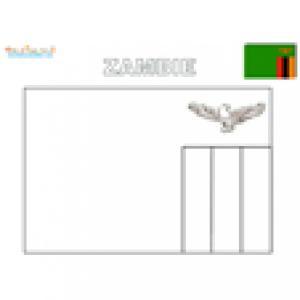 Coloriage du drapeau de la Zambie