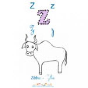 Apprendre le Z comme le ZEBU, imagier 2 à imprimer