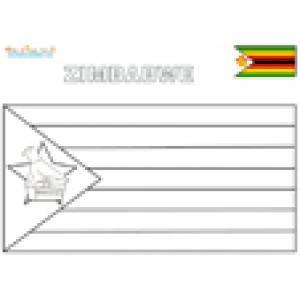 Coloriage du drapeau du Zimbabwe