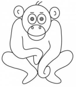 Coloriage signe du zodiaque: le singe
