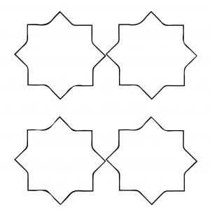Imprimer des croix pour couronne de roi 4. Des étoiles à imprimer pour servir pour Noël