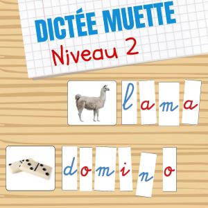 Dictée muette niveau 2 Montessori à imprimer gratuitement. Découvrez comment utiliser une dictée muette basé sur la pédagogie de Maria Montessori à la maison. Niveau Facile pour simplifier l'apprentissage de la lecture.