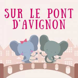 """Imprimez les paroles de la chanson """"Sur le pont d'Avignon afin de pouvoir la chanter en famille."""