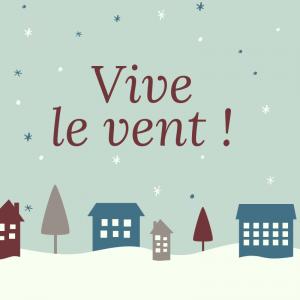 Imprimer la chanson Vive le vent  pour le carnet de chants afin de la chanter en famille pendant Noel.