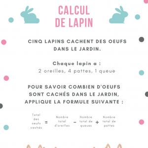 Imprimer le jeu de calcul de lapin calin et les oeufs  Un jeu de calcul pour Pâques