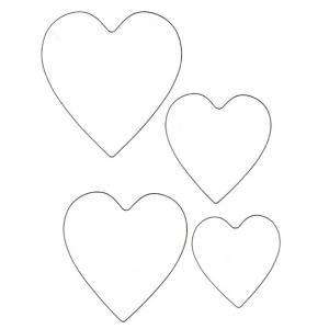 Imprimer le modèle de coeurs - 4 tailles. Des coeurs à imprimer pour les colorier ou fabriquer un cadeau