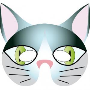 Imprimer le modèle du masque de chat pour le déguisement des enfants