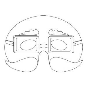 Imprimer le modèle du masque de monsieur moustachu pour le déguisement des enfants