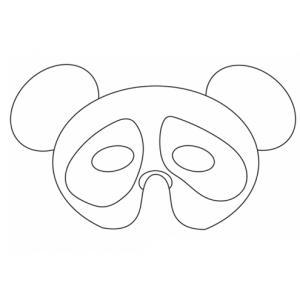Imprimer le modèle du masque de panda pour le déguisement des enfants , masque à colorier et à découper