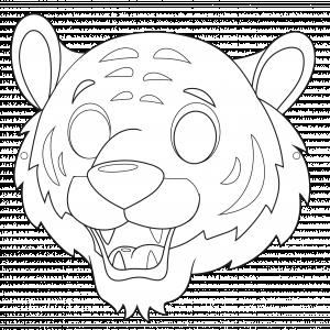 Imprimer le modèle du masque de tigre pour le déguisement des enfants , masque à colorier et à découper