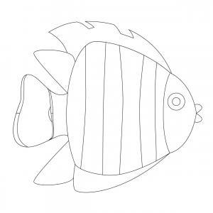 Imprimer le poisson d'avril à découper 2. Un poisson à découper pour le 1er avril