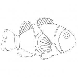 Imprimer le poisson d'avril à découper 3 Un poisson à découper pour le 1er avril