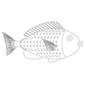Imprimer le poisson du 1er avril à découper et à colorier pour le 1er avril