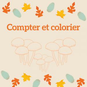 Imprimer l'exercice 1 pour compter et colorier les points du champignon en respectant le code couleur MS