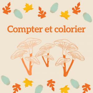 Imprimer l'exercice 2 pour compter et colorier les points du champignon en respectant le code couleur MS